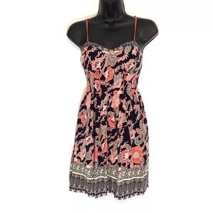 ANTHROPOLOGIE BAND OF GYPSIES mini dress floral
